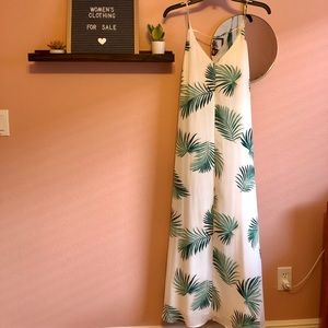 Forever 21 Palm Print Maxi Dress